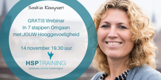 Webinar 14 november HSP HSS Coaching en Training